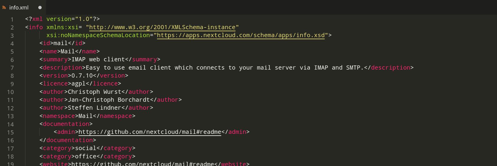 Validate Nextcloud's info.xml on CI